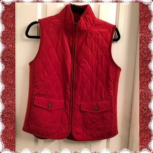 Quilted and Ribbed Burnt Orange Talbots Vest